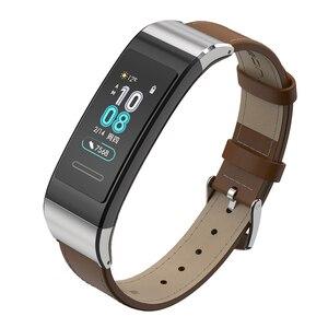 Image 1 - Lederen Horlogebandje Voor Huawei Band 4 Pro Armband Echt Lederen Horloge Band Voor Huawei Band 3 Pro Voor Huawei band 3