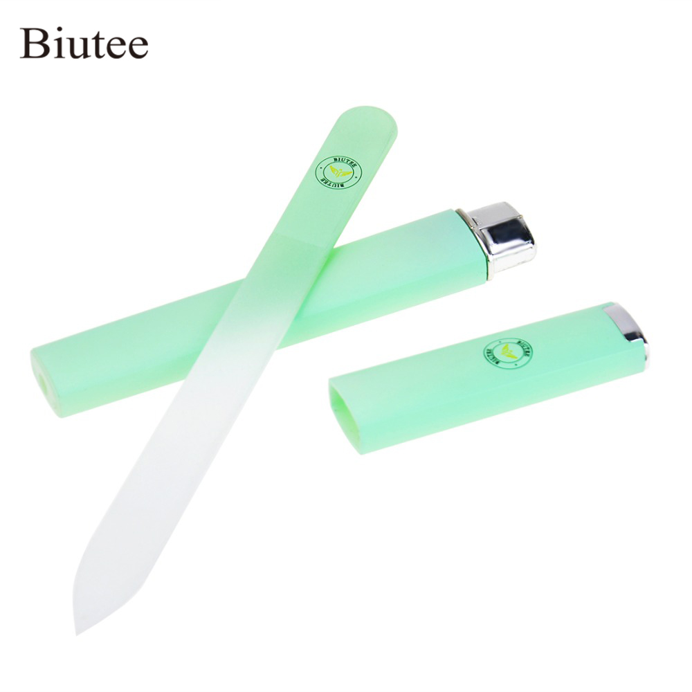 1 Pcs Crystal Glass Nail File  Professional Manicure Device Tool Durable Nail Art Buffer Files Green/Pink/Sliver|Nail Files & Buffers|   - AliExpress