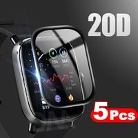 Protector de pantalla de borde curvado 20D, cubierta suave película protectora de cobertura completa para Amazfit GTS 2e 2 Mini POP BIP (no cristal)