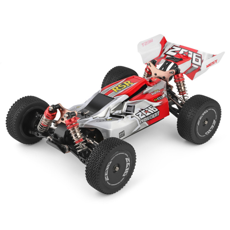 WLtoys 144001 1/14 2.4G Racing Remote Control Car Competition 60 km/h Metal Chassis 4wd Electric RC Formula Car USB Charging 3