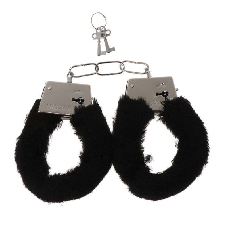 Sexy Stylish Adult Hen Night Party Game Gift Furry Soft Metal Fuzzy Handcuffs X3UE