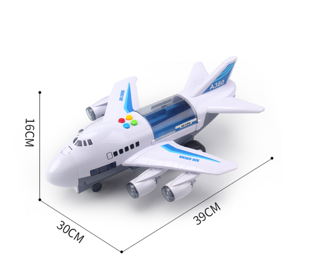 New Plane Kids Airliner Toy CarMusic Story Simulation Track Inertia Children's Toy Aircraft Large Size Passenger Free Gift Map 4