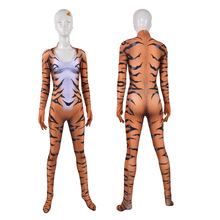 Cosplay Costume Zentai 3d-Print Bodysuit Halloween-Suit Tiger Animal Black Cat Tight