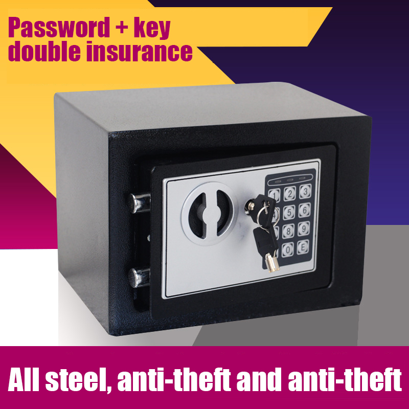 Golden Security Quality 5A All Steel Mini Anti-theft Home Small Electronic Password Office Safes Home Property Safe Protection