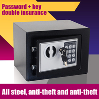 Golden Security Quality 5A All steel mini anti theft home small electronic password office safes Home property Safe Protection