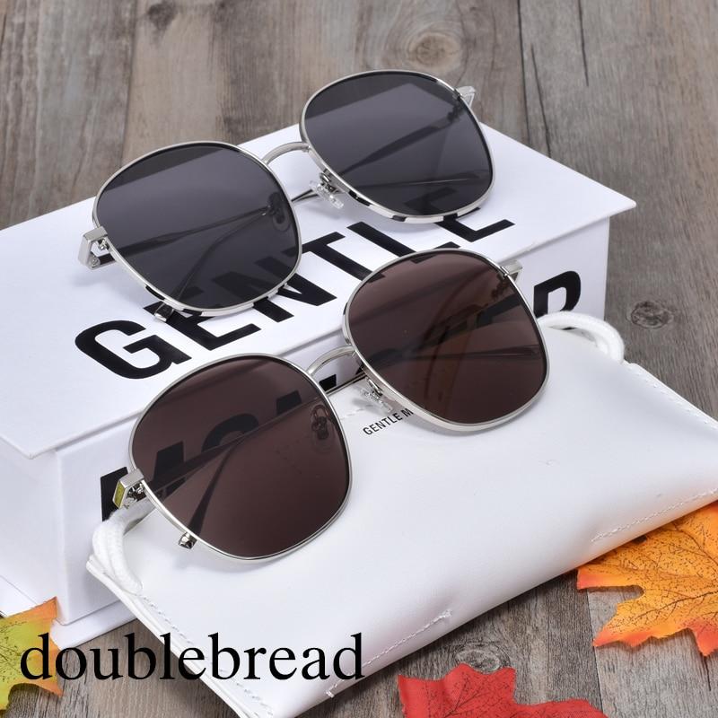 Korea Brand Designer Polarized Women Sunglasses GENTLE Doublebread Sunglasses Women Men Leisure Travel Round Driving Sun Glasses