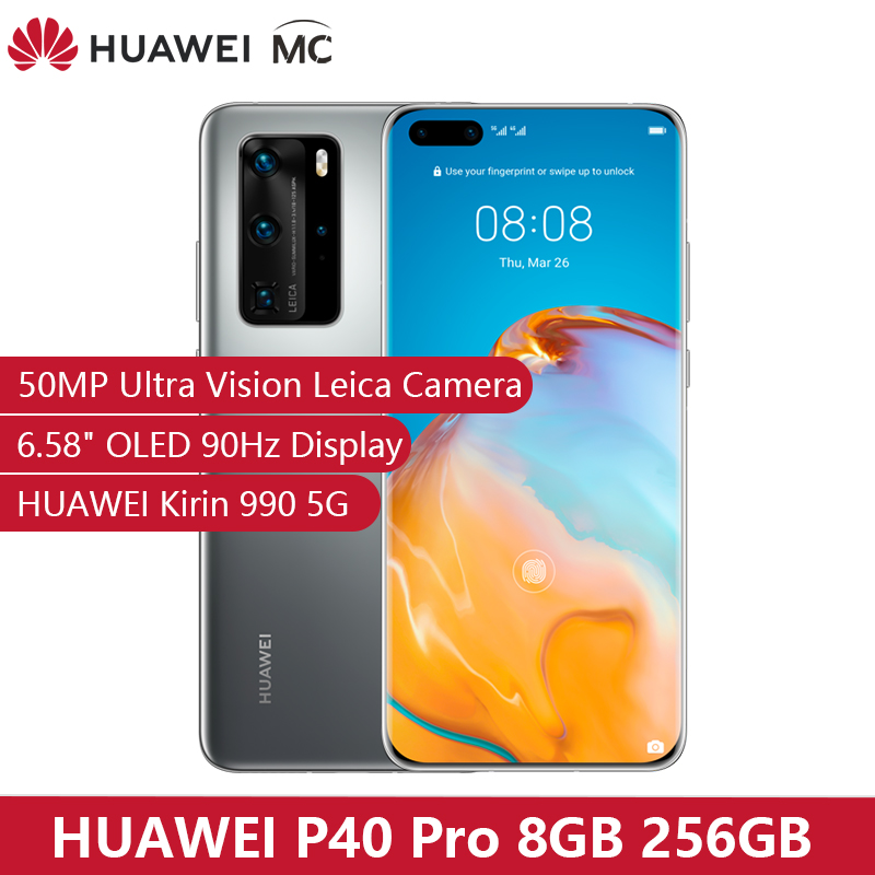 Original HUAWEI P40 Pro 5G 8GB 256GB Kirin 990 Smartphone 50MP Quad Cameras 6.58'' 90Hz Screen 40W Super Charge