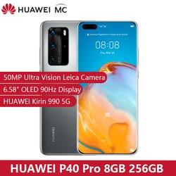 Originale HUAWEI P40 Pro 5G 8GB 256GB Kirin 990 Smartphone 50MP Quad Telecamere 6.58 ''90Hz schermo 40W di Carica Super-