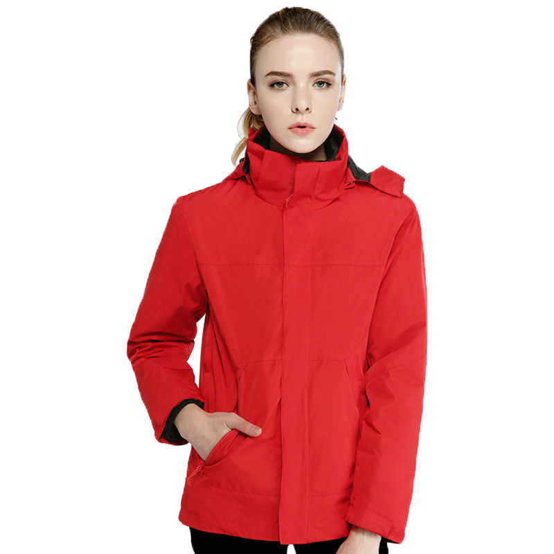 Outdoor Three-In-One, Jas Hujan Jaket Musim Dingin Two-Piece Set Down Bulu Hangat Deconstructable Liner