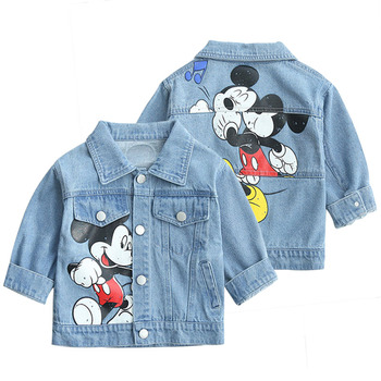 Kids Denim Jacket Boys Girls Coats 2020 New Children Clothing Autumn Baby Girls Clothes Outerwear Jean Fashion Jackets Coats big girls denim trench coats double breasted letter jackets for girls outerwear brand 2017 children clothing 4 13 years