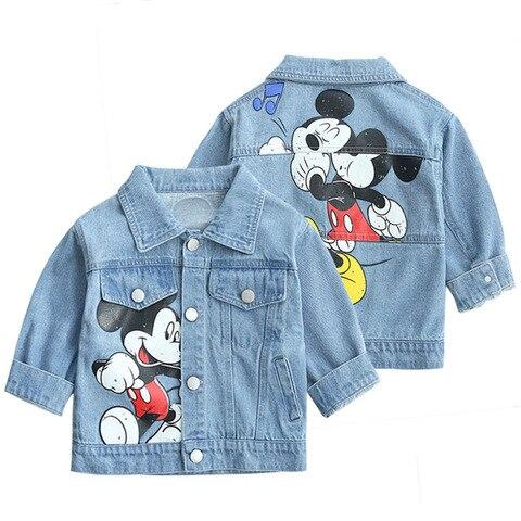 criancas denim jaqueta meninos meninas casacos 2020 novas criancas roupas outono roupas do bebe meninas