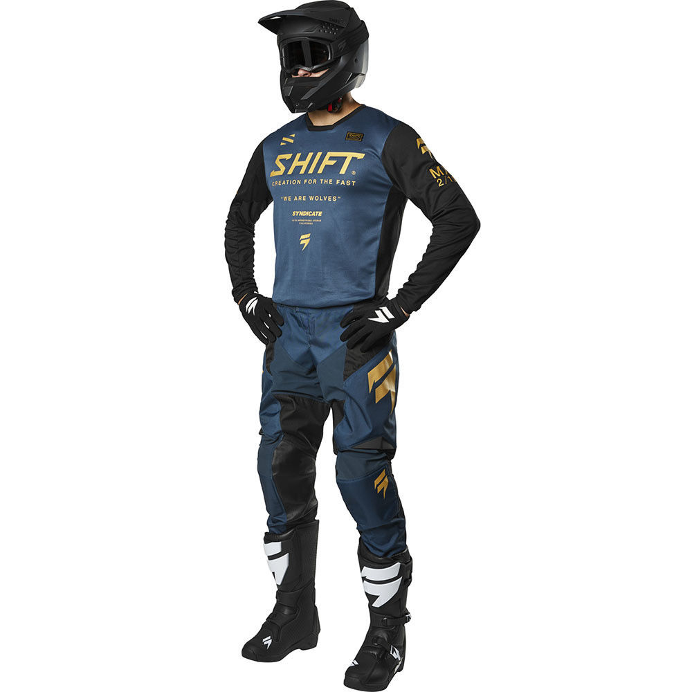 NEW Shift MX 2019 WHIT3 Label York Black Adult Dirt Bike Motocross Riding Jersey
