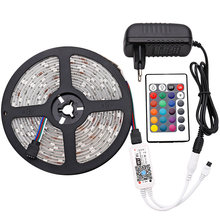 SMD5050 RGB LED Strip 5 M/16.4ft dengan Wifi Controller LED Lampu Neon Strip 12V Fleksibel Pita LED strip Aplikasi Smartphone Mengendalikan(China)
