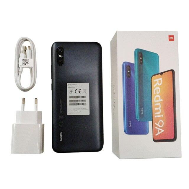 """Global Version Xiaomi Redmi 9A Mobile Phone 2GB  32GB ROM MTK Helio G25 Octa Core 6.53"""" 5000mAh 13MP Camera Smartphone"""