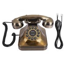 WX-3011 # teléfono antiguo de bronce Vintage teléfono fijo de escritorio llamador hogar Oficina Hotel teléfono antiguo