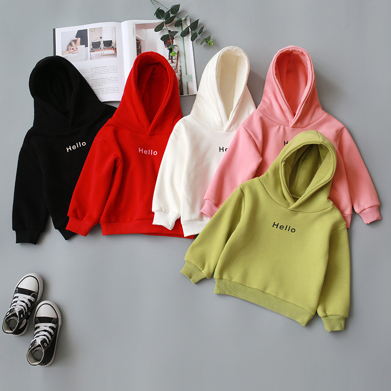 2020 Autumn Winter Coat For Girls Toddler Baby Kids Boys Clothes Hooded Cartoon 3D Ear Hoodie Letter Sweatshirt Tops Clothes 1