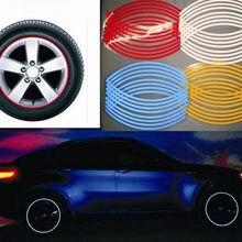 16 Strips/Stuk Wiel Stickers Velg Fiets Motorfiets Auto Reflecterende Tape Auto Accessoires Tire Exterieur Night Veiligheidswaarschuwing