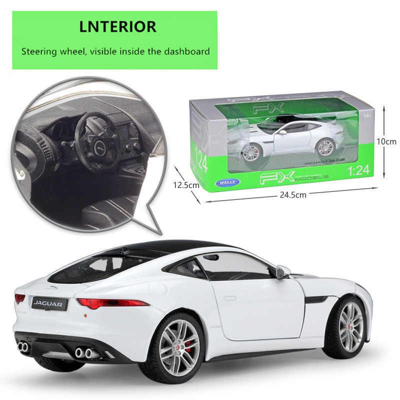 ويلي 1:24 جاكوار F-Type كوبيه سيارة رياضية محاكاة سبيكة سيارة نموذج الحرف الديكور جمع لعبة أدوات هدية