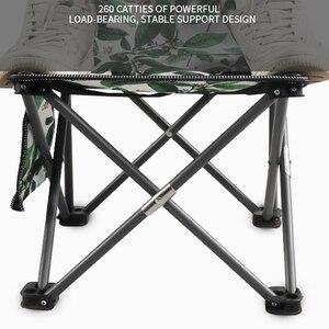 Image 5 - كرسي للاستعمال في المناطق الخارجية المحمولة التخييم نزهة للطي كرسي قابل للطي خفيفة الصيد جديد الأخضر اللحم أوراق زهرة كرسي