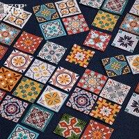 46 unids/lote chino elementos de cerámica patrón pegatinas adhesivas para el diario sobre planificador Scrapbook álbum portátil