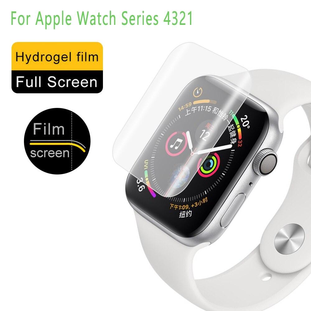 3D TPU Hydrogel Schutzhülle Film Volle Abdeckung Bildschirm Anti-fingerprint Protektoren für ich-Uhr Apple Uhr Serie 4 3 2 1