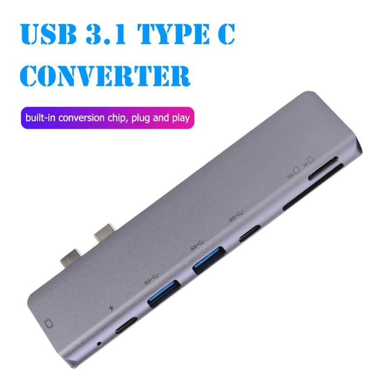 USB 3.1 Type C Converter HDMI 4K PD USB C USB 3.0 Built-In Conversion Chip Plug And Play TF Camera Memory Card Adapter