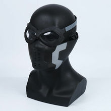 Captain America Winter Soldier Mask Goggle Cosplay Bucky Barnes PVC Props Costume Gift