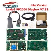 Lexia 3 pp2000 completa chip diagbox v7.83 firmware 921815c para citroen para peugeot v48/v25 lite lexia3 obd2 ferramenta de diagnóstico do carro