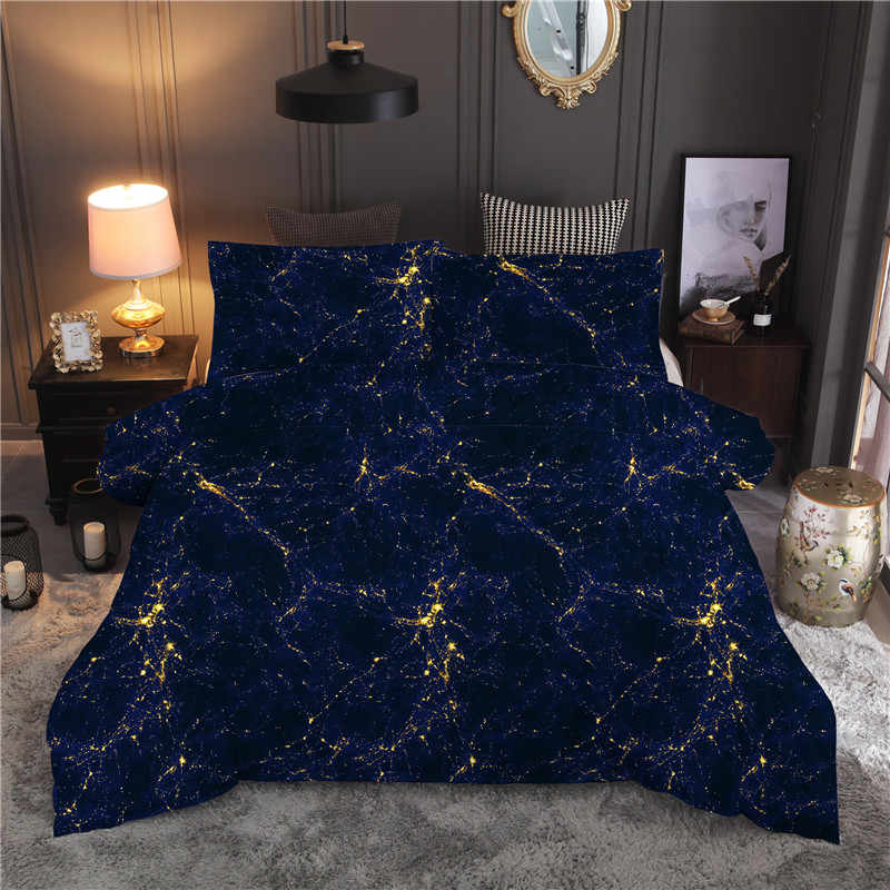 Modern Galaxy Printing Bedding Set Starry Sky Constellation Quilt Cover Duvet Cover Set Bedclothes Pillowcase Home Textile