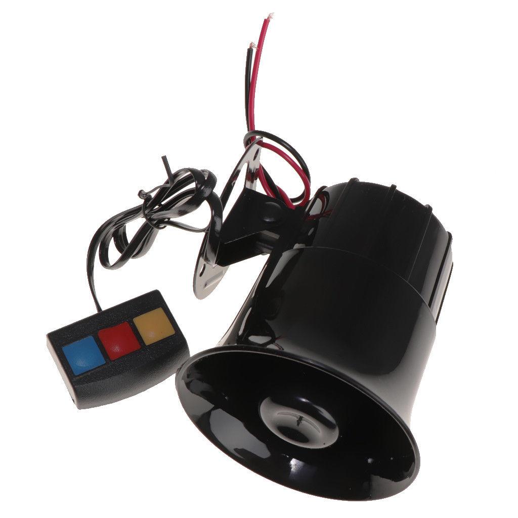Black 30W 12V 3 Sound Speaker Loud Siren Horn 105db for Car / Motorcycle