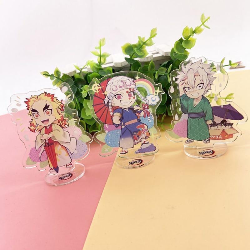 Горячая аниме рассекающий демонов: Kimetsu no Yaiba акриловая модель на подставке Nezuko Zenitsu Аниме Фигурка декоративная пластина