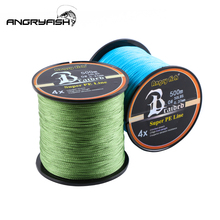 Angryfish 500m 4 Strands Braided Fishing Line 5 Colors Super PE Strong Strength