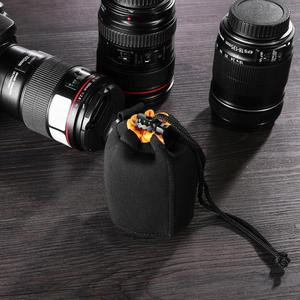 Image 5 - Waterproof Camera Lens Pouch Fleece Bag Soft Neoprene Drawstring Protector Case Portable Outdoor Travel Photo Camera Package