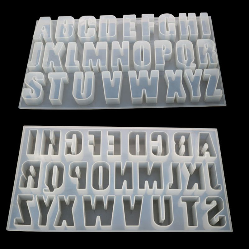 DIY Crystal Glue Mold Capital Letter Mould Mirror Handmade Pendant Creative Jewelry Making Molds
