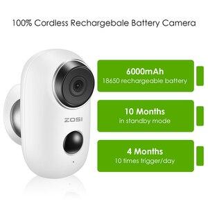 Image 4 - ZOSI נטענת סוללה מופעל IP מצלמה שמש כוח טעינה 1080P HD חיצוני אבטחה אלחוטית WiFi מצלמה