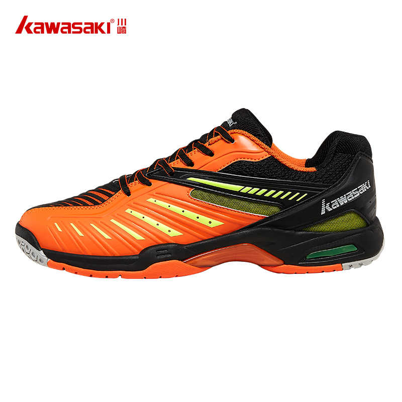 Kawasaki Badminton Shoes for Men Orange Professional Indoor Court Sports Sneakers Anti-Slippery Hard-Wearing K-520 K-522