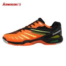 Kawasaki Badminton Shoes for Men Orange Professional Indoor Court Sports Sneakers Anti Slippery Hard Wearing K 520