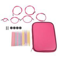 10 пар алюминиевых круглых спиц для вязания, Сменная головка, крючки для вязания, набор инструментов для вязания, аксессуары для шитья
