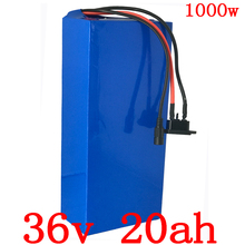1000W 36V 20AH Electric Bicycle Battery Lithium E-bike battery 30A BMS 2A charger