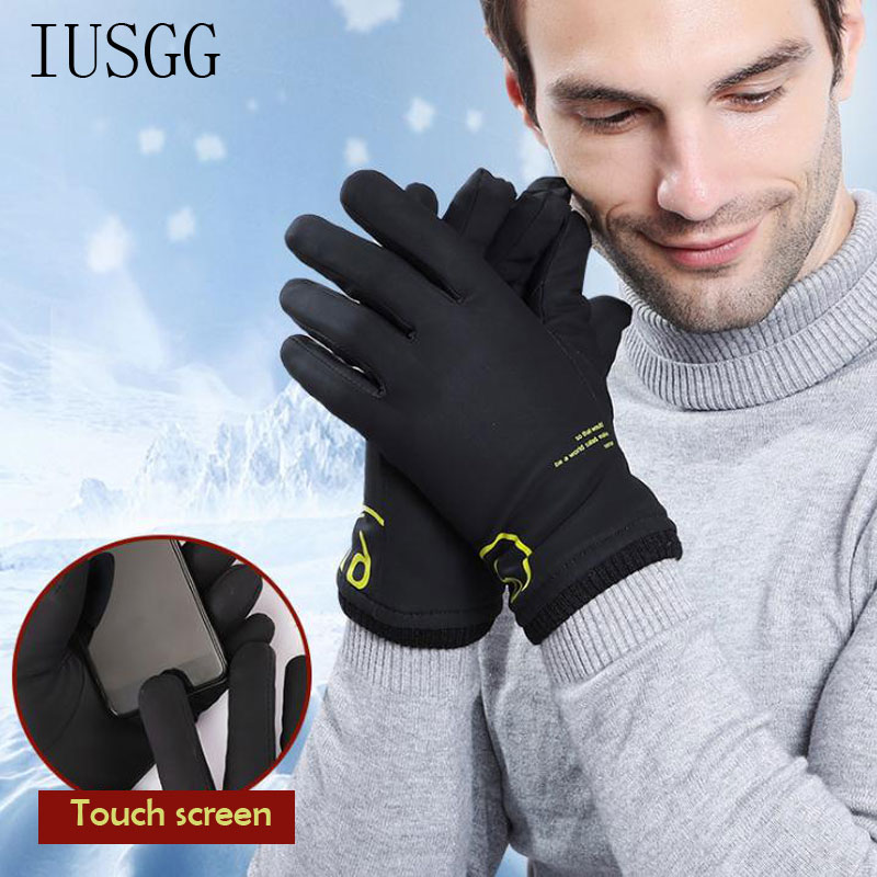 Windstopers Gloves Professional Touch Screen Winterproof Outdoor Sport Gloves For Men Elastic Breathable Winter Gloves Driving