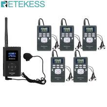 Sistema de guia turístico sem fio 0.3w 1 transmissor fm ft11 + 5 receptor rádio fm pr13 para guiando igreja reunião tradução sistema