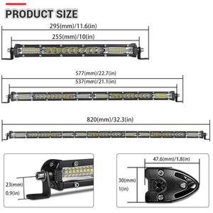 Image 3 - Ultra Slim 10 20 30 led light bar 12V 24V Led Bar Combo Spot Flood Driving work Light for Jeep Trucks Tractor off road 4x4