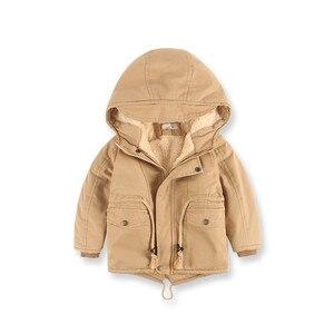 Image 4 - ฤดูหนาวหนาขนแกะHoodedเด็กเสื้อSwallow Tailedเด็กแจ็คเก็ตWindproofเด็กOuterwearสำหรับ90 140ซม.