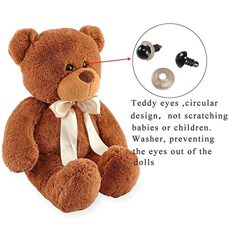 100pcs 8/10/12/mm Mix Color Plastic Safety Eyes Crafts Animal Bear DIY Dolls Puppet Accessories Stuffed Toys with Washer-3