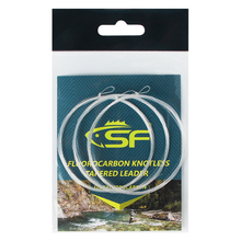 цена на 3X SF Knotless 100% Fluorocarbon Tapered Leader 7.5 9 12 FT 0 1 2 3 4 5 6 7X 456