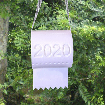 #50 2020 Quarantine Christmas Ornament Christmas Tree Hanging Toilet Paper Crisis Ornament Decoration 2020 Funny Gift Navidad image