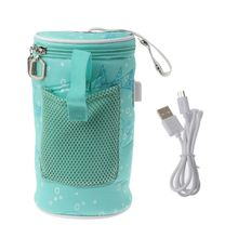 USB Baby Bottle Warmer Insulated Bag Travel Cup Portable In Car Drink Keep Warm Milk Thermostat Bag For Feed Newborn