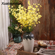 Xuanxiaotong 1pc 95 cm Dancing Orchid Artificial Flowers for Wedding Scene Decoration Home party Decor