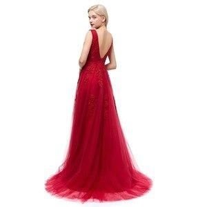 Image 2 - Сексуальные  длинные вечерние кружевные платья с открытой спиной   Элегантное вечернее платье в пол на свадебную вечеринку и выпускной