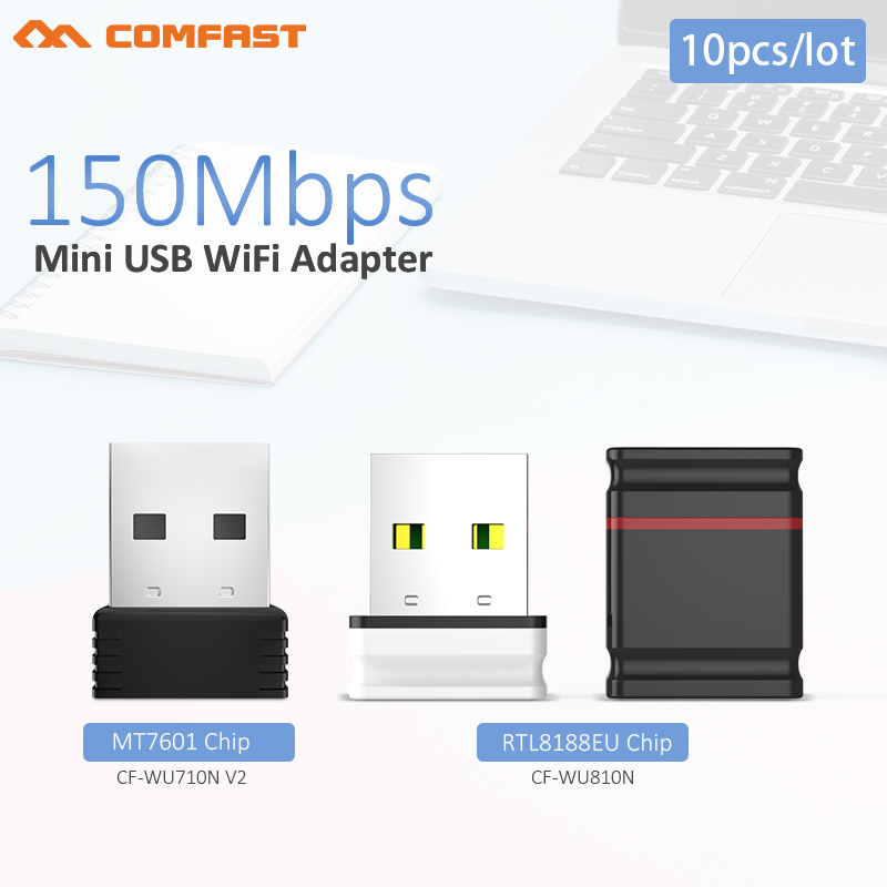 10pcs USB Wifi Adapter 150Mbps Antenna Wi-Fi USB Adapter MT7601 Wi-fi Dongle Wireless Network Card Receiver Wi Fi Lan Ethernet